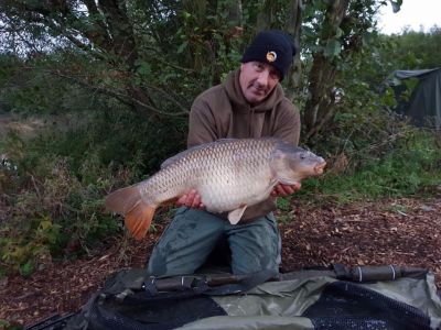 20lb 6oz Caught On The New Scopex Butterscotch, Over A Scattering Of Pokernut Brian Woodrow
